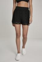 Pantaloni scurti Laces pentru Femei negru Urban Classics