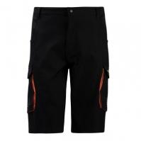 Pantaloni scurti Muddyfox Mountain Bike pentru Barbati negru portocaliu