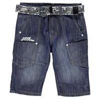 Pantaloni scurti No Fear cu curea pentru baietei