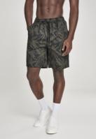 Pantaloni scurti Pattern Resort palm-oliv Urban Classics