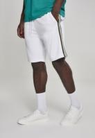 Pantaloni scurti Side Taped Track alb-multicolor Urban Classics