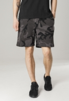Pantaloni scurti talie elastica inchis-camuflaj Urban Classics