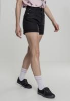 Pantaloni scurti talie inalta Stretch Twill pentru Femei negru Urban Classics