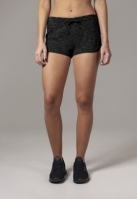 Pantaloni scurti urban pentru Femei negru-alb Urban Classics