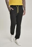 Pantaloni sport contrast Drawstring negru Urban Classics