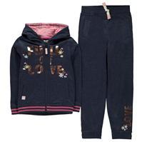 Pantaloni sport Set Crafted Ribbed pentru fete pentru Bebelusi