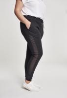 Pantaloni sport cu plasa dungi laterale pentru Femei negru Urban Classics