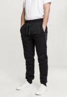Pantaloni sport Knee Inset negru Urban Classics