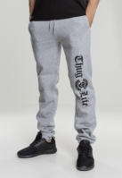 Pantaloni sport Thug Life Old English gri