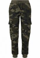 Pantaloni trening Cargo pentru Femei camuflaj Urban Classics