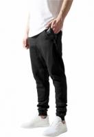 Pantaloni trening cu fermoar lateral negru-negru Urban Classics