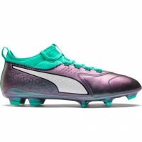 Ghete de fotbal Puma ONE 3 IL Lth FG Color Shift-Bi 104928 01 barbati