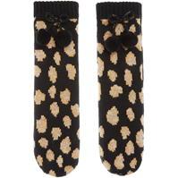 Papuci de Casa Sosete Biba Leopard print