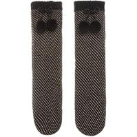 Papuci de Casa Sosete Biba Metallic pom pom