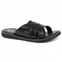 Papuci piele barbati Joma Salgeciras 801 negru