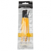 ParisPres Presents trei Piece Everyday Eye Brush Set
