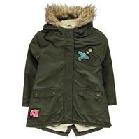 Parka Crafted Fur Trimmed Child pentru fete