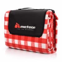 Patura pentru picnic Blanket Meteor Basic 170x200cm rosu-and-alb Lattice 77121