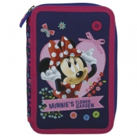 Penar Scoala Echipat Dublu(2 Compartimente) Fete Minnie Mouse