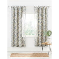 Perdele gri and Willow Coast Printed Voile Pair 145x180