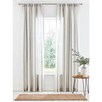 Perdele gri and Willow Shore gri & alb Woven Voile 145x180cm