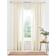 Perdele gri and Willow Shore Natural Woven Voile 145x180cm