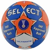 Minge handbal SELECT ULTIMATE IHF / 2 albastru portocaliu pentru Femei copii