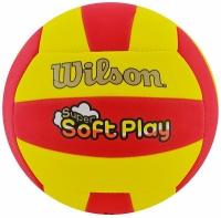 Minge volei WILSON SUPER SOFT PLAY galben / rosu roz 5 / WTH3509XB
