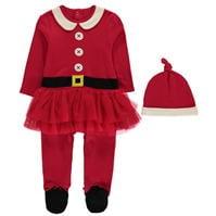 Pijama salopeta Spiritul Craciunului Novelty Unisex pentru Bebelusi
