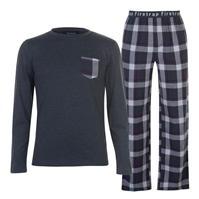 Pijamale Firetrap cu Maneca Lunga pentru Barbati