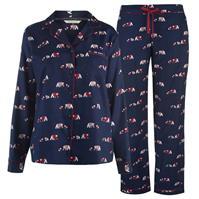 Pijamale Maison De Nimes Collar Revere Bear pentru femei