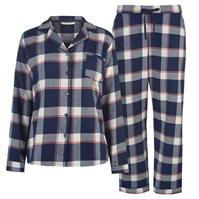Pijamale Maison De Nimes Collar Revere Check pentru femei