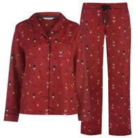 Pijamale Maison De Nimes Collar Revere Nutcracker pentru femei