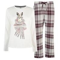 Pijamale Maison De Nimes Hare Check pentru femei