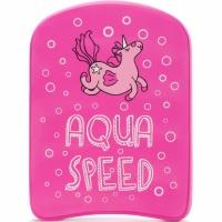 Placa inot kickboard Aqua-Speed Kiddie Swim roz Unicorn 186 copii