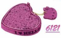 Pochette Hello Kitty Mod Heart roz 12x10 Cm