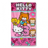 Prosop De Baie Sau Plaja 70x140cm Friends Hello Kitty