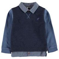Pulover Crafted Mock Shirt pentru baieti pentru Bebelusi