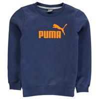 Pulover cu guler rotund Puma No1 Logo pentru baieti