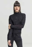 Pulover tip helanca cu maneca lunga pentru Femei negru Urban Classics