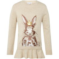 Pulovere Rose and Wilde Bella Bunny Emroided Ruffle Hem