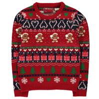 Pulovere tricotate Craciun pentru fetite