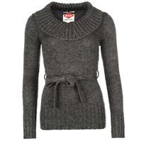 Pulovere tricotate Lee Cooper cu curea Cowl pentru Femei
