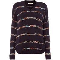 Pulovere tricotate Maison de Nimes bumbac stitch detail