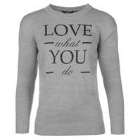 Pulovere tricotate Golddigga Slogan pentru Femei