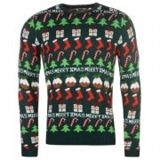 Pulovere tricotate Star Craciun XmasFairisle pentru Barbati
