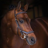 Rambo Micklem English din piele Deluxe competitie Bridle
