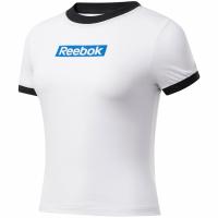 Reebok antrenament Essentials Linear Logo Tee alb-negru FK6680 femei