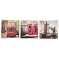 Graham and maro Retro London Canvas Art