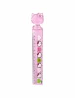 Rigla roz 3d Hello Kitty